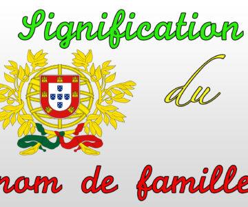 Origine du nom de famille «PEREIRA»